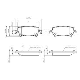 Bremsbelagsatz, Scheibenbremse Breite: 95,7mm, Höhe: 38mm, Dicke/Stärke: 15,8mm mit OEM-Nummer 44660-2020