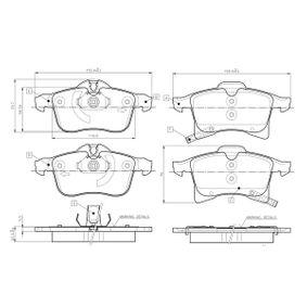 Brake Pad Set, disc brake 0 986 TB2 459 Astra Mk5 (H) (A04) 1.4 MY 2005
