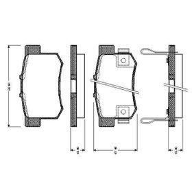 2005 Honda Civic Mk7 2.0 Type-R Brake Pad Set, disc brake 0 986 TB2 637