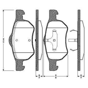 Bremsbelagsatz, Scheibenbremse Breite: 172,5mm, Höhe 1: 72,5mm, Höhe: 69,3mm, Dicke/Stärke: 18,6mm mit OEM-Nummer 5015365AA