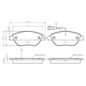 Bremsbelagsatz, Scheibenbremse Breite: 137mm, Höhe: 57,5mm, Dicke/Stärke: 19mm mit OEM-Nummer 95 515 027