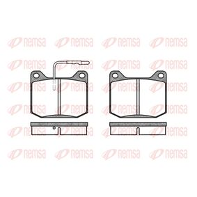 Brake Pad Set, disc brake Height: 64,6mm, Thickness: 17mm with OEM Number 13675000