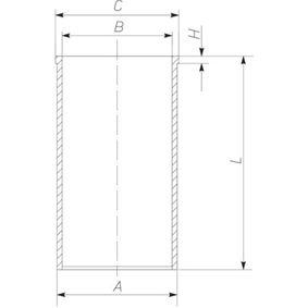 Zylinderlaufbuchse mit OEM-Nummer 2995665