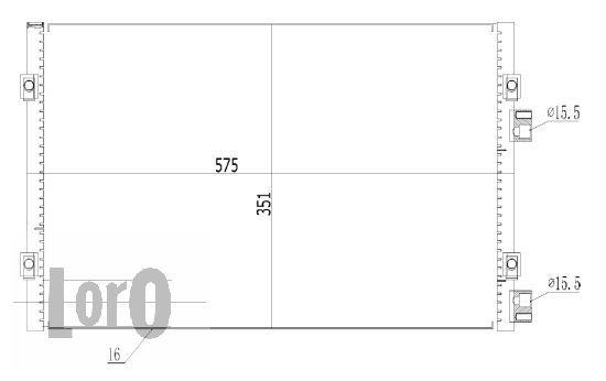 Klimakondensator 008-016-0003 ABAKUS 008-016-0003 in Original Qualität
