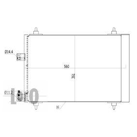 Kondensator, Klimaanlage Netzmaße: 560x361x16 mit OEM-Nummer 6455-Y9