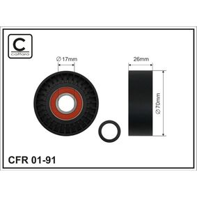 CAFFARO  01-91 Spannrolle, Keilrippenriemen Breite: 26mm