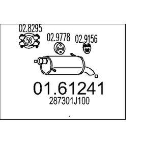 Endschalldämpfer Länge: 610mm mit OEM-Nummer 28730-1J100