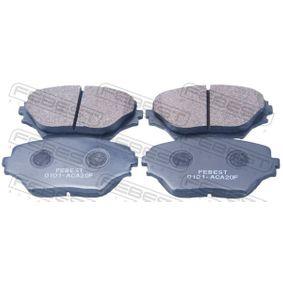 Brake Pad Set, disc brake 0101-ACA20F RAV 4 II (CLA2_, XA2_, ZCA2_, ACA2_) 2.0 MY 2003