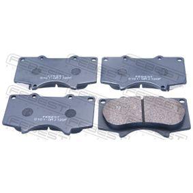 Bremsbelagsatz, Scheibenbremse Höhe: 77,5mm, Dicke/Stärke: 15,4mm mit OEM-Nummer 04465-0K360