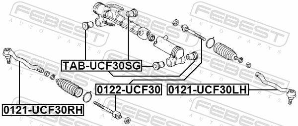 Lenkstangenkopf FEBEST 0121-UCF30LH Bewertung