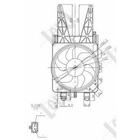 Fan, radiator 016-014-0004-R PUNTO (188) 1.2 16V 80 MY 2000