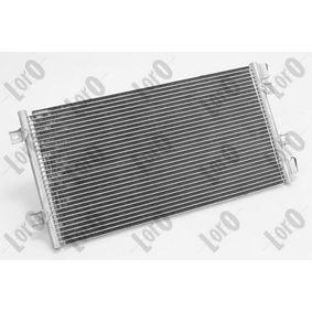 Condenser, air conditioning 016-016-0012 PUNTO (188) 1.2 16V 80 MY 2006