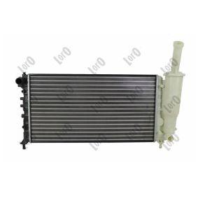 Radiator, engine cooling 016-017-0039 PUNTO (188) 1.2 16V 80 MY 2000