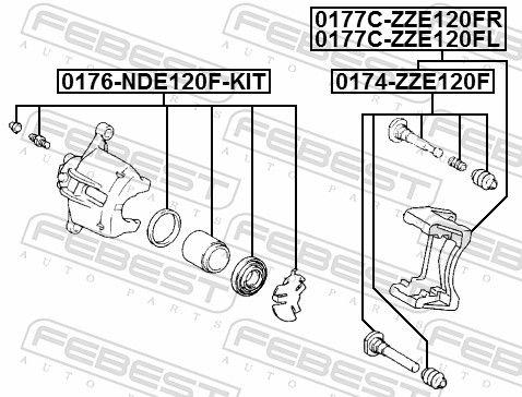 Guide Bolt, brake caliper FEBEST 0174-ZZE120F rating