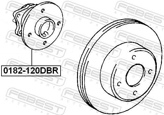 Cubo de rueda FEBEST 0182-120DBR evaluación