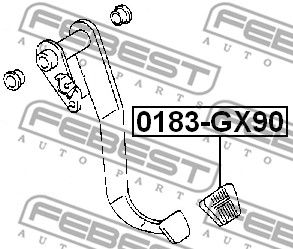 Clutch Pedal Pad FEBEST 0183-GX90 rating