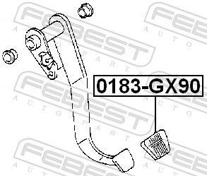 Revestimiento pedal, embrague FEBEST 0183-GX90 evaluación