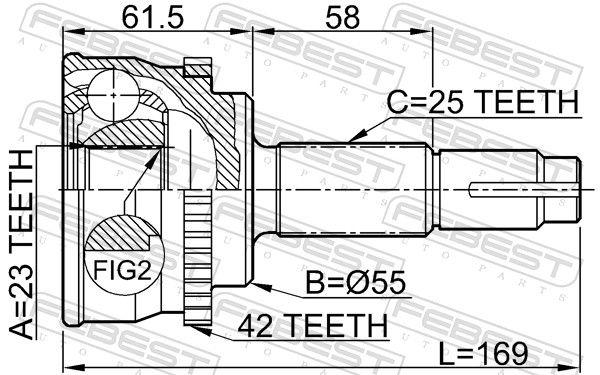 Gelenk, Antriebswelle FEBEST 0210-017A42 Bewertung