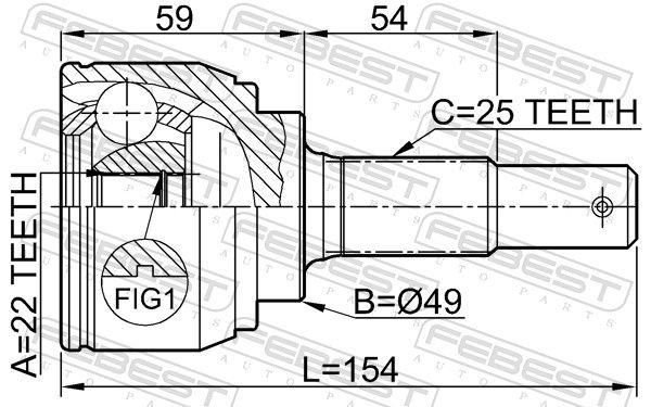 Gelenk, Antriebswelle FEBEST 0210-C11X Bewertung