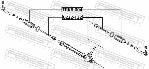 Inner Track Rod FEBEST 0222-T32 rating
