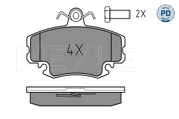 MEYLE  025 214 6318/PD Bremsbelagsatz, Scheibenbremse Breite: 100mm, Höhe: 64,6mm, Dicke/Stärke: 18,1mm