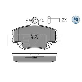 Bremsbelagsatz, Scheibenbremse Breite: 100mm, Höhe: 64,6mm, Dicke/Stärke: 18,1mm mit OEM-Nummer 7701205 411
