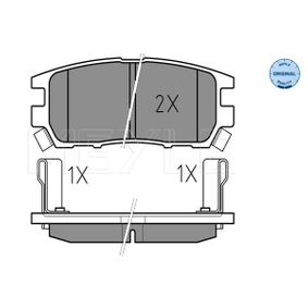 Kit pastiglie freno, Freno a disco 025 218 4014/W Pajero Sport 1 SUV (K7_, K9_) 2.8 TDi (K77T) ac 2001