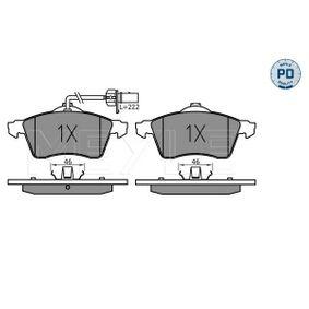 Bremsbelagsatz, Scheibenbremse Breite: 156,3mm, Höhe: 68,7mm, Dicke/Stärke: 19,6mm mit OEM-Nummer 7D0 698 151 F