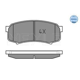 Bremsbelagsatz, Scheibenbremse Breite: 116,2mm, Höhe: 44mm, Dicke/Stärke: 15,2mm mit OEM-Nummer 04466 60140