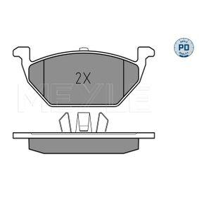 Bremsbelagsatz, Scheibenbremse Breite: 146mm, Höhe: 54,7mm, Dicke/Stärke: 19,2mm mit OEM-Nummer 6C0698151C