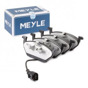 Bremsbelagsatz, Scheibenbremse Breite: 146mm, Höhe: 54,7mm, Dicke/Stärke: 19,2mm mit OEM-Nummer 1K0 698 151J