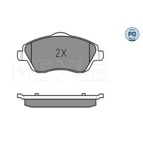 Bremsbelagsatz, Scheibenbremse Breite: 131,5mm, Höhe 1: 55,4mm, Höhe 2: 52,8mm, Dicke/Stärke: 16,7mm mit OEM-Nummer 1605 964