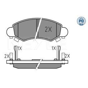 Bremsbelagsatz, Scheibenbremse Breite: 130,8mm, Höhe: 44,4mm, Dicke/Stärke: 15,5mm mit OEM-Nummer 55810-84E01-000