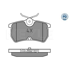 Brake Pad Set, disc brake Width: 87,1mm, Height: 42,6mm, Thickness: 14mm with OEM Number 1 107 698