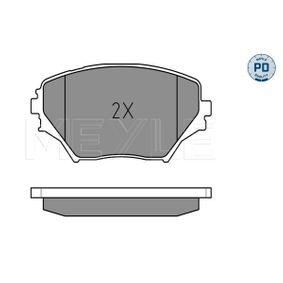 Bremsbelagsatz, Scheibenbremse Breite: 123mm, Höhe: 60,4mm, Dicke/Stärke: 17,4mm mit OEM-Nummer 04465 42130