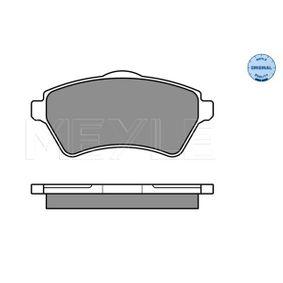 Bremsbelagsatz, Scheibenbremse Breite: 131,6mm, Höhe: 62,2mm, Dicke/Stärke: 17,4mm mit OEM-Nummer 23615
