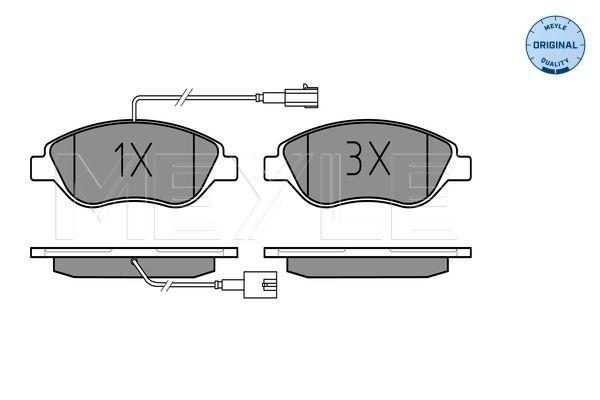 MEYLE  025 237 1218/W Bremsbelagsatz, Scheibenbremse Breite: 150,8mm, Höhe: 57,4mm, Dicke/Stärke: 18,4mm