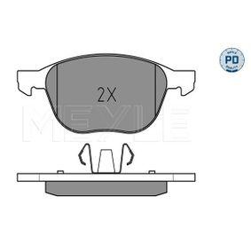 Bremsbelagsatz, Scheibenbremse Breite 1: 155,1mm, Breite 2: 156,3mm, Höhe 1: 62,4mm, Höhe 2: 67mm, Dicke/Stärke: 18,2mm mit OEM-Nummer MECV6J2K021AA