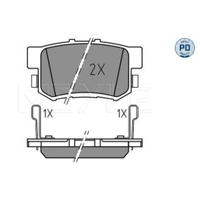 Brake Pad Set, disc brake Width: 88,8mm, Height: 47,5mm, Thickness: 15,7mm with OEM Number 43022S9AE52