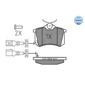 Bremsbelagsatz, Scheibenbremse Breite: 87,1mm, Höhe: 52,8mm, Dicke/Stärke: 17,2mm mit OEM-Nummer 6Q0698451