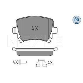 Bremsbelagsatz, Scheibenbremse Breite: 105,3mm, Höhe: 56mm, Dicke/Stärke: 16,7mm mit OEM-Nummer JZW698451D