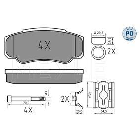 Bremsbelagsatz, Scheibenbremse Breite: 109,5mm, Höhe: 49,8mm, Dicke/Stärke: 20,1mm mit OEM-Nummer 425468