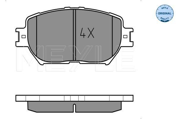 MEYLE  025 239 2817 Bremsbelagsatz, Scheibenbremse Breite: 131,6mm, Höhe: 58,3mm, Dicke/Stärke: 17mm