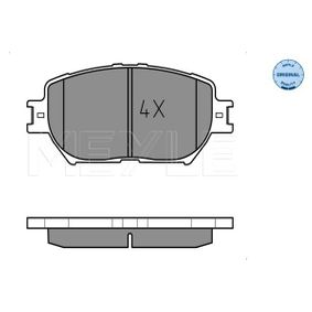 Bremsbelagsatz, Scheibenbremse Breite: 131,6mm, Höhe: 58,3mm, Dicke/Stärke: 17mm mit OEM-Nummer 04465 33240