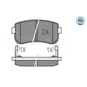 2006 KIA Ceed ED 1.4 Brake Pad Set, disc brake 025 243 2015/PD