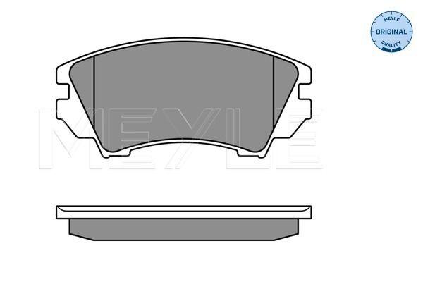 Brake Pads 025 244 1219/W MEYLE D14048512 original quality