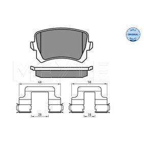 Bremsbelagsatz, Scheibenbremse Breite: 105,5mm, Höhe: 56,3mm, Dicke/Stärke: 17,2mm mit OEM-Nummer JZW698451G