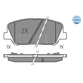 Bremsbelagsatz, Scheibenbremse Breite: 140,7mm, Höhe: 59,9mm, Dicke/Stärke: 17,3mm mit OEM-Nummer 58101 2MA00