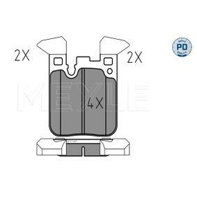 Brake Pad Set, disc brake 025 250 2916/PD 3 Saloon (F30, F80) 320d 2.0 MY 2014