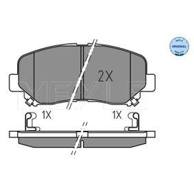 Bremsbelagsatz, Scheibenbremse Breite: 141,8mm, Höhe: 60,9mm, Dicke/Stärke: 15,8mm mit OEM-Nummer 25564 MEYLE